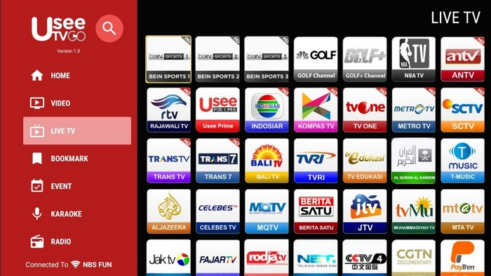 Akun UseeTV All Channel