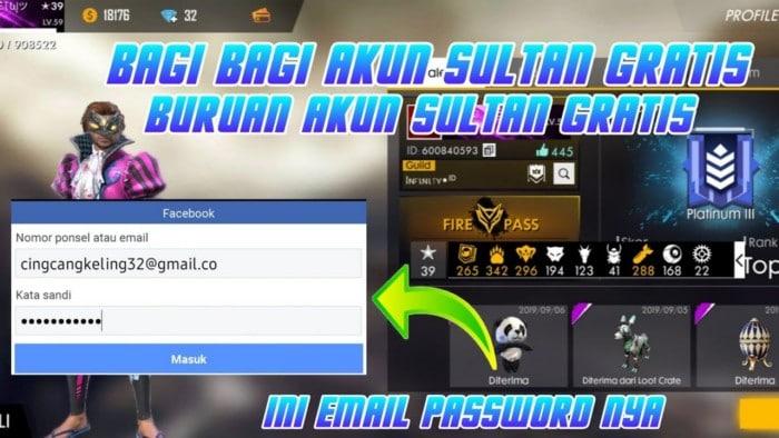 550 Akun Ff Sultan Gratis Januari 2021 Update Setiap Hari